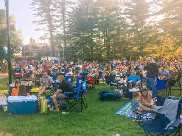 Lawn seating at Tanglewood