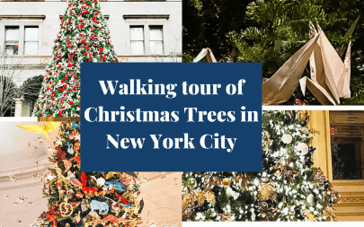 Walking tour of Christmas Trees in NYC- with printable map