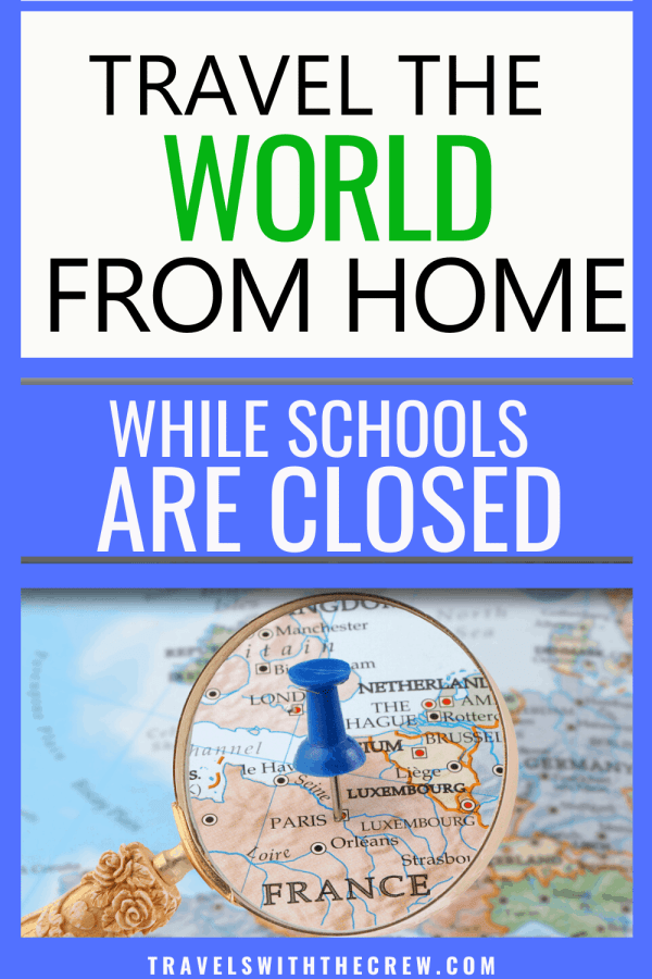 How to travel the world from home while schools are closed! FREE program featuring 2 new countries each week along with books, movies, food, and crafts from each country. Make staying home fun instead of overwhelming!