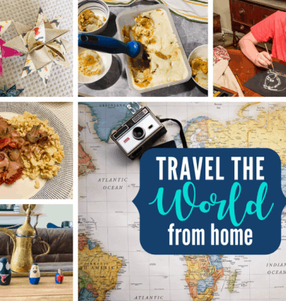 Travel the World from home activities