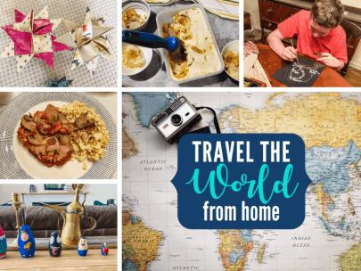 Facebook landing page Travels around the World