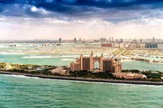 Dubai Palm Jumeirah Island.
