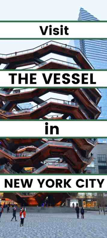 Visit the Vessel in Hudson Yards in New York City. This beautiful art piece is interactive as well as beautiful. People are allowed to climb the staircases that lead to view platforms on every side. A great activity for kids.