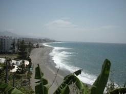 not a soul on the beach, Nerja Spain