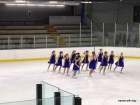 Miss M's synchro team competes earlier this month