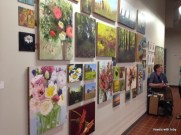 colorful flowers filled this wall-Art a Whirl, Minneapolis