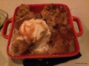 Mercadito: fabulous bread pudding dessert that they comped us!