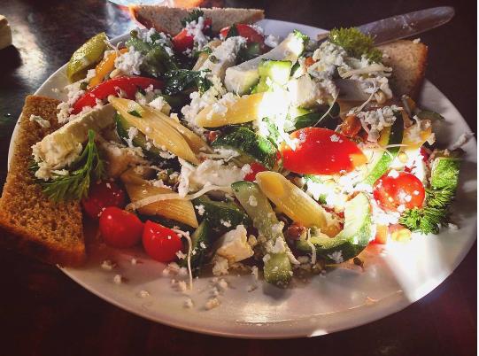 Mediterranean Pasta Salad Little Buddha Cafe Rishikesh