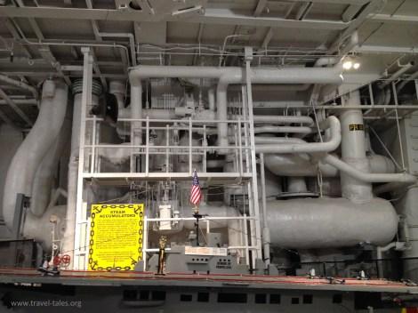 USS Lexington steam accummulator catpult