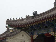 Xi'an 13 Goose pagoda animals on roof to keep evil spirits away