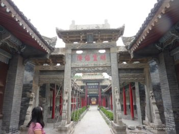 San Yuan Temple 40 stone gate - everything else is wood or porcelain