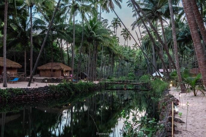 The lagoon before sunrise