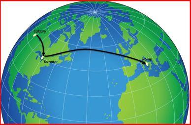 Calgary-Rome Map