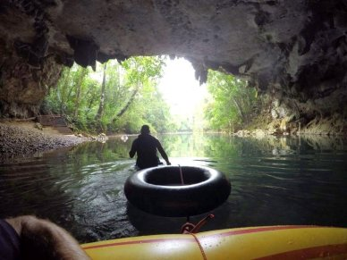 Belize cave tubing family travel