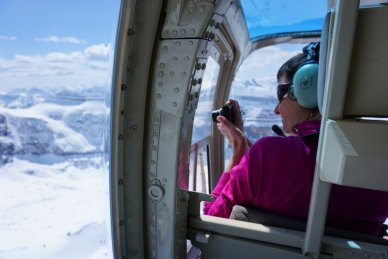 View from inside a helicopter
