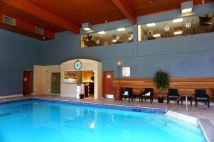 Fairmont Chateau Lake Louise Exercise Room and pool
