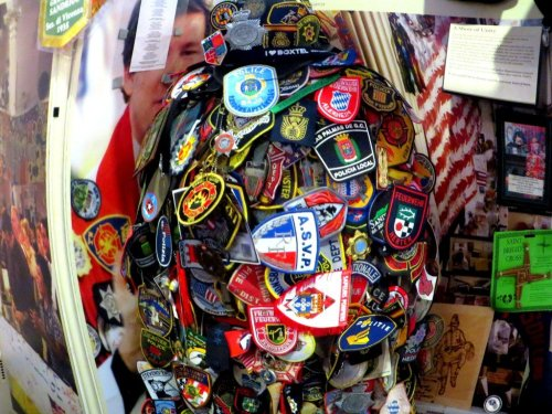 911 Memorial NYC rescue workers badges from September 11 attack