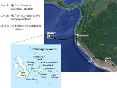 Map Galapagos Islands
