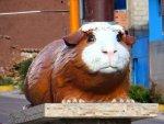 Statue of a guinea pig Peru