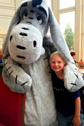 Eeyore and boy Disney