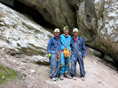end of day of caving near Canmore
