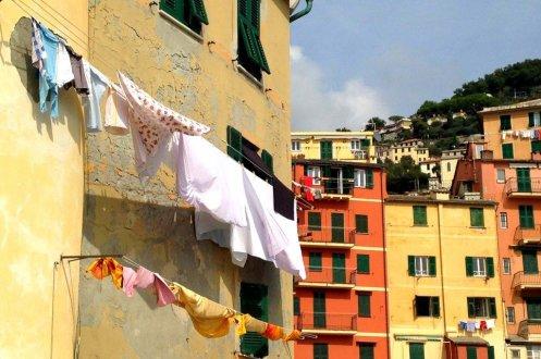 Hanging clothes Camogli Italy