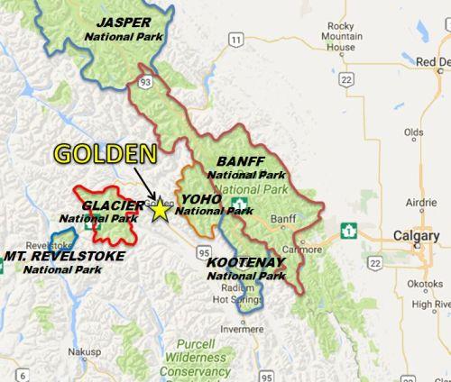 map national parks golden