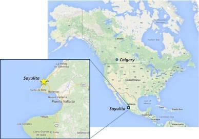 image map sayulita mexico