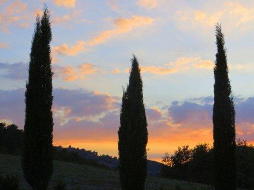 Bagno Vignoni Sunset Italian Hill town