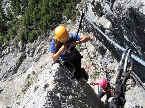 Banff Via Ferrata mother daughter