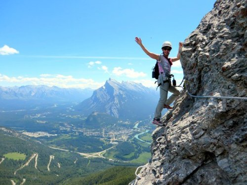 Banff view from Mt Norquay Via Ferrata