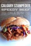 Beef on a bun Calgary recipe
