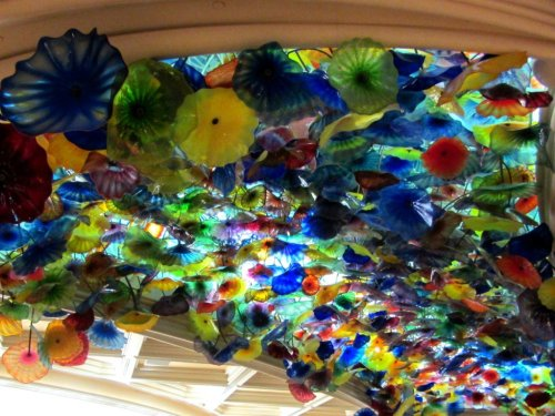 Las Vegas attractioon Bellagio flower ceiling