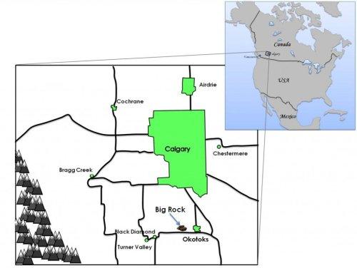 Big Rock Okotoks Map