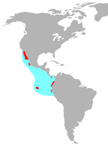 map blue footed booby habitat