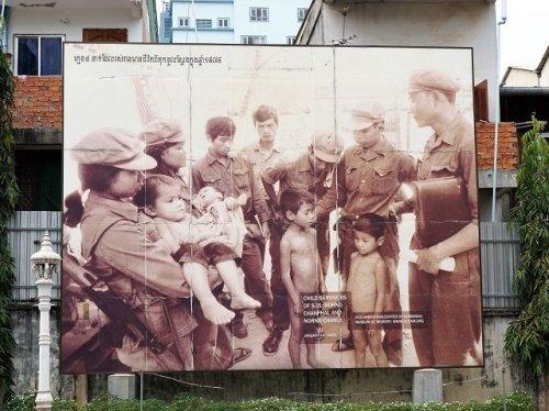 Child survivors photo at S21 prison Phnom Penh