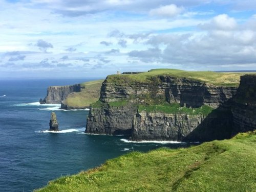 Cliffs of Moher and castle