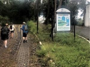 Condominios Asturias sign on Manzanillo hike Casa Abandonada