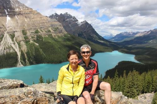 Cycling to Peyto Lake