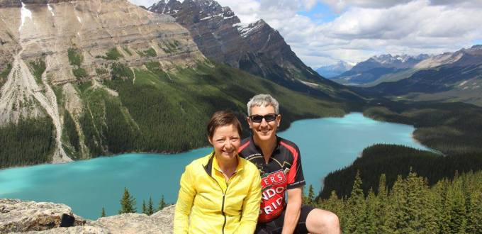 Cycling to Peyto Lake