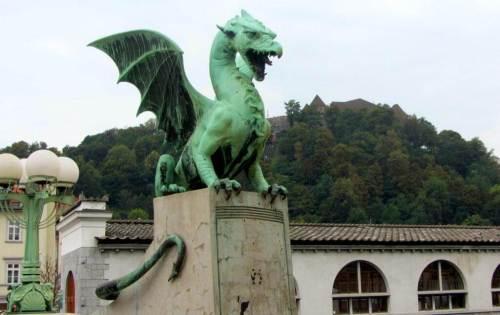 Dragon statue Ljubljana