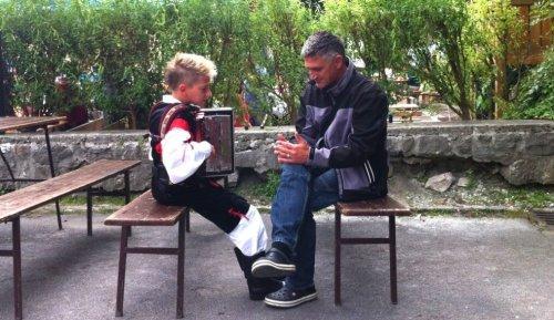 Slovenia father and son