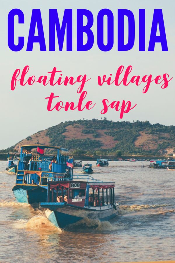 Floating Villages of Tonle Sap Cambodia. Click to learn more about travel in Cambodia near Siem Reap and Tonle Sap boat tours. #Cambodia #TonleSap #travel #Cambodiatravel #floatingvillage