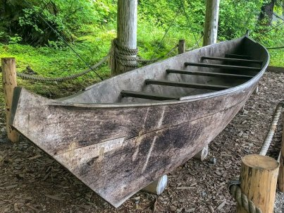 Glacier Bay Lodge Tlinget traditional canoe