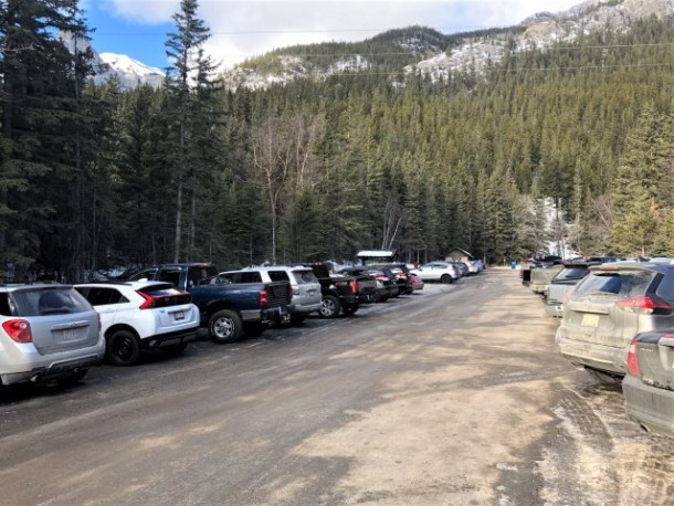 Grotto Canyon parking winter hiking