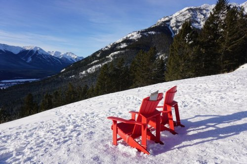Red Chairs Banff