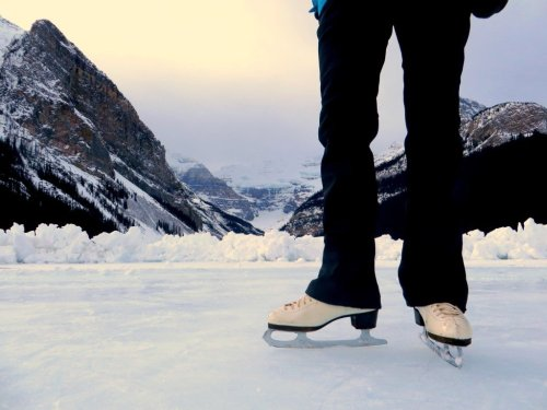 Ice Skating Lake Louise Alberta