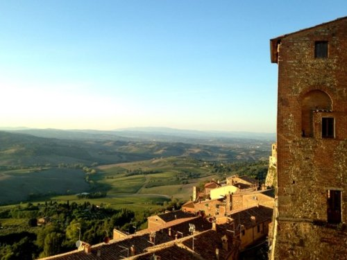 Italy hill town Montepulciano