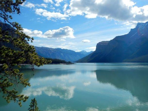Banff National Park underwater town