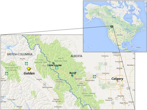 Map Golden British Columbia